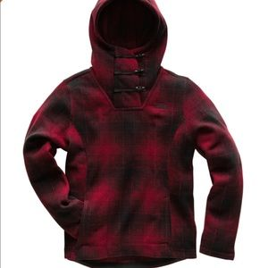 The North Face Crescent Pullover Red Plaid Large
